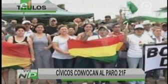 Video titulares de noticias de TV – Bolivia, mediodía del lunes 19 de febrero de 2018