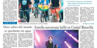 Portadas de periódicos de Bolivia del domingo 18 de febrero de 2018