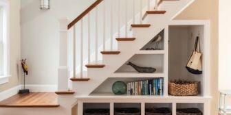 ¿Cómo aprovechar el espacio debajo de la escalera?
