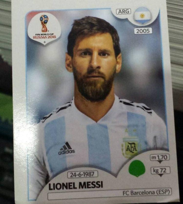 Lionel Messi tendrá su figurita en el álbum del Mundial de Rusia 2018 (@FootCardSticker)