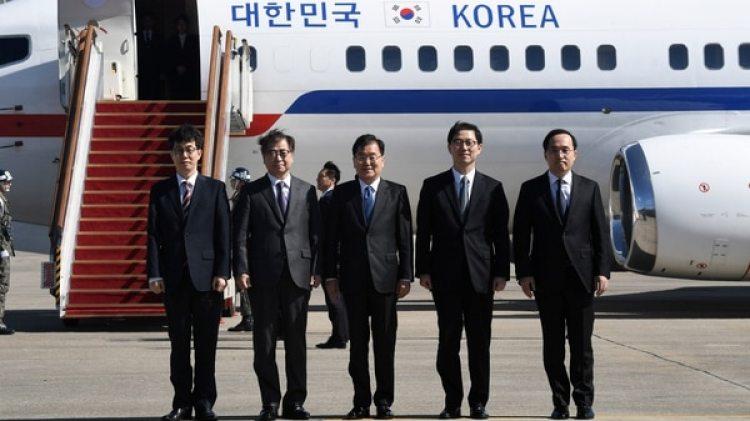 Funcionarios surcoreanos fueron enviados a la Casa Blanca para informar sobre las conversaciones con Kim Jong-un