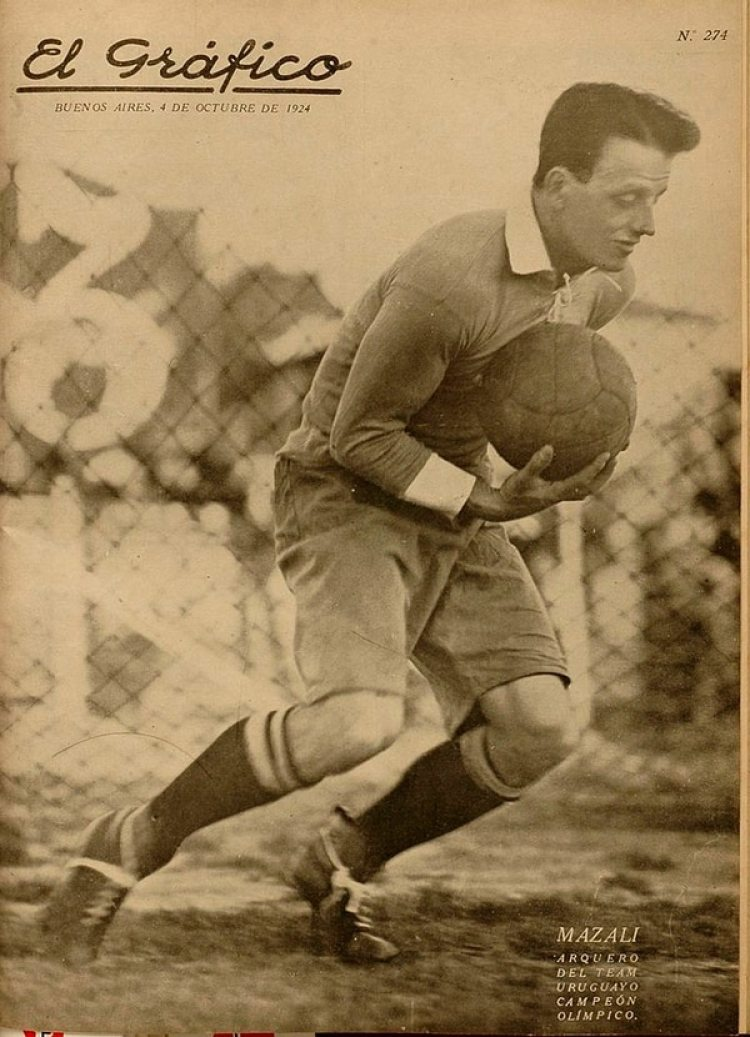 Revista El Gráfico de 1924, cuando Mazali atajó en los Juegos Olímpicos