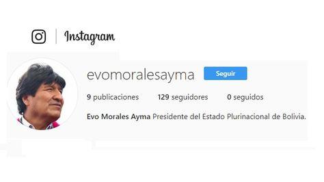 La cuenta de Morales en Instagram.