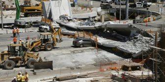 Un ingeniero reportó grietas en el puente de Miami a un funcionario del Estado dos días antes de la tragedia