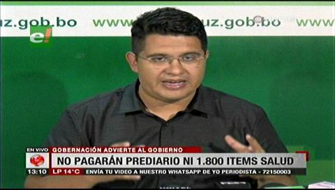 Gobernación exige al Gobierno parar ataque sistemático contra Santa Cruz