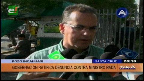 Roly Aguilera pide al Ministro Rada se informe bien de la crisis que vive la Gobernación cruceña