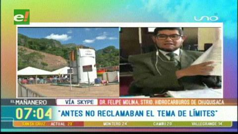 Chuquisaca acusa a la Gobernación de Santa Cruz de mentir sobre regalías de campo Incahuasi