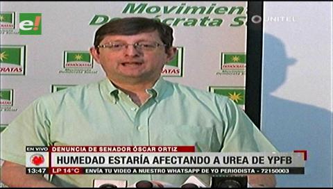 Senador Ortiz denuncia un mal almacenamiento de Urea