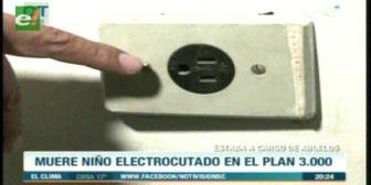 Niño muere electrocutado en el Plan Tres Mil
