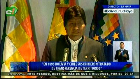 Evo: Bolivia demuestra que nunca renunció a una solución negociada en el problema marítimo