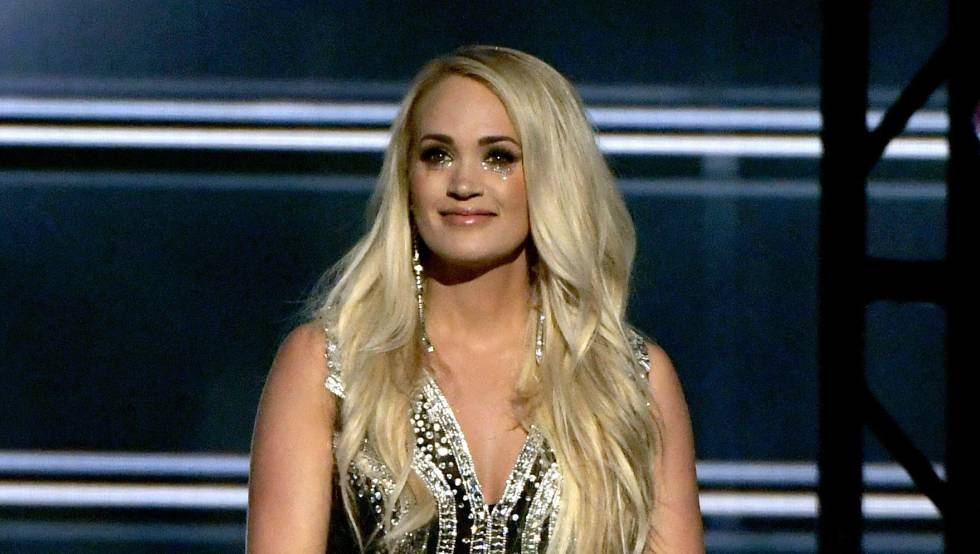 Carrie Underwood durante su actuación el arena Garden de este domingo.