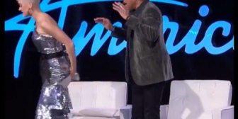 El divertido accidente de Katy Perry con su vestuario en plena grabación de American Idol