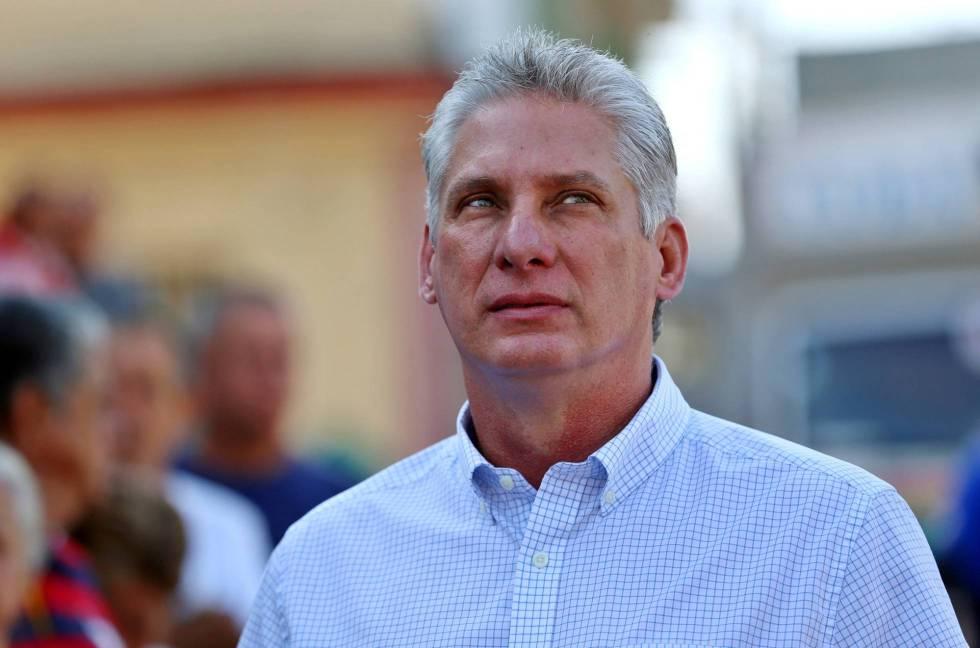 El susutituto de Raúl Castro, Miguel Díaz-Canel, en Cuba el pasado 11 de marzo.