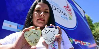Las medallas Sudamericanas están bañadas con oro de 18 kt y plata 925