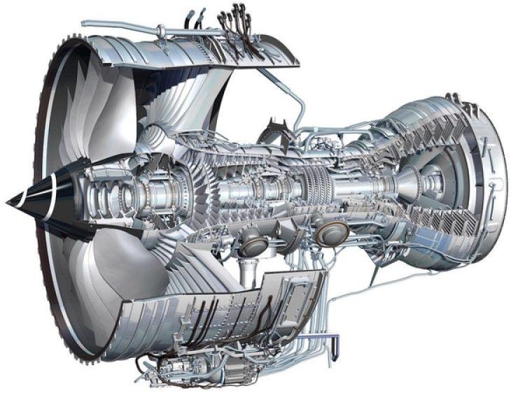 Radiografía de un Trent 1000, encargado no sólo de propulsar a determinados Dreamliner sino también de alimentar una variedad de complejos sistemas que componen a las aeronaves modernas