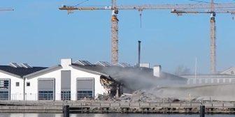 Planearon una demolición de rutina de un silo en Dinamarca pero algo salió muy mal