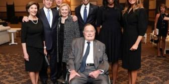 Por qué Donald Trump no estuvo en la foto de los últimos cinco presidentes de Estados Unidos