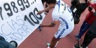 Saucedo alcanzó los 100 goles con San José