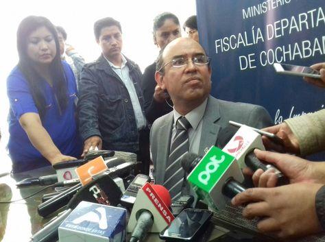 El fiscal Departamental, Óscar Vera, en la conferencia de prensa sobre el caso Puente.