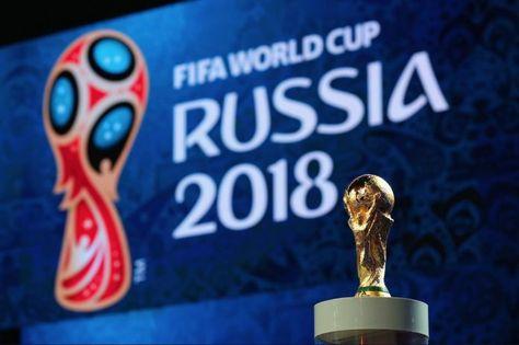 Logo y trofeo de la Copa del Mundo Rusia 2018. Foto: Televisa
