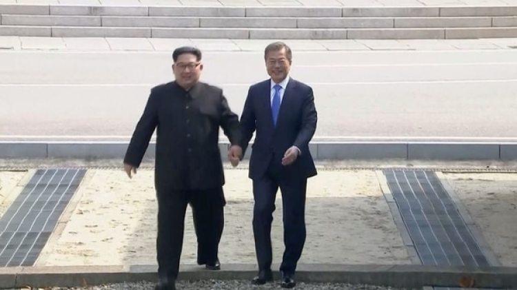 El cruce de Kim Jong-un a territorio surcoreano (REUTERS)