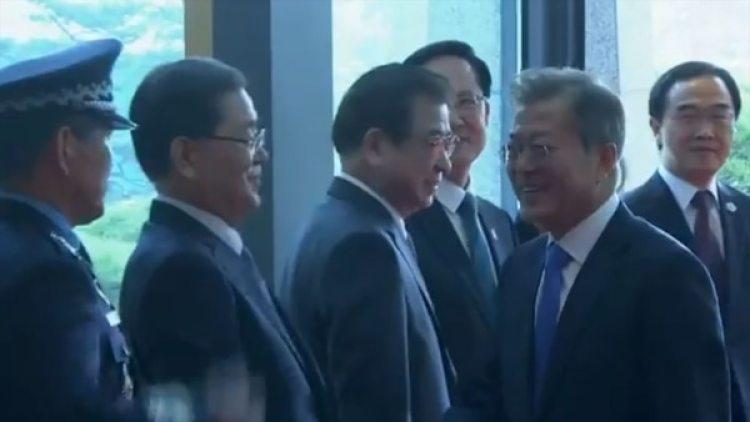 La llegada de Moon Jae-in a la Zona Desmilitarizada
