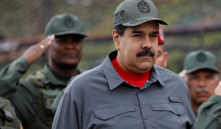 El mandatario venezolano Nicolás Maduro durante un ejercicio militar en el Fuerte Tiuna en febrero de 2018(REUTERS/Marco Bello)