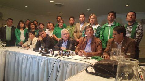 El Comité Ejecutivo del Movimiento Demócrata Social en La Paz.