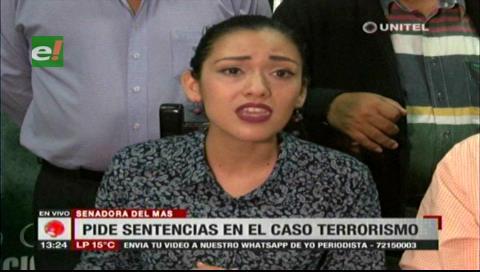 Senadora Salvatierra pide que se dicte sentencia tras 9 años del caso terrorismo
