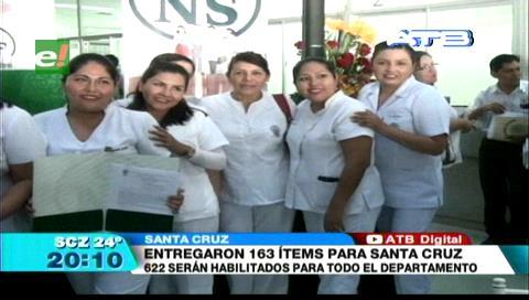 Entregan 163 ítems de salud en la CNS de Santa Cruz