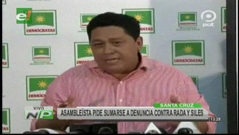 Incahuasi: Asambleísta pide al MAS sumarse a denuncia contra Rada y Siles