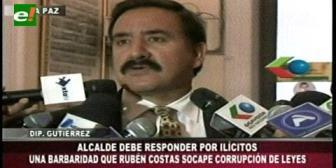 """Diputado Gutiérrez: """"Una barbaridad que Costas socape corrupción de Leyes"""""""