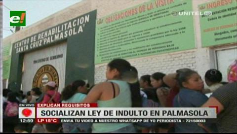 Ley de indulto y amnistía beneficiaría al 15% de los reos del penal de Palmasola
