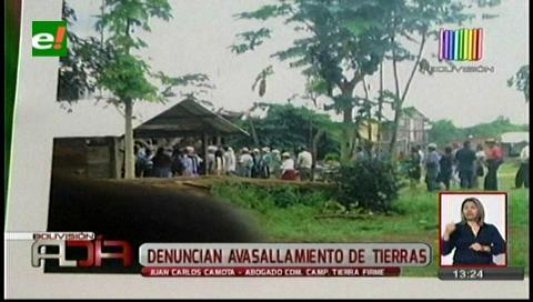 Denuncian que chapareños avasallaron tierras en San Miguel de Velasco