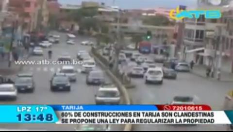 Ley municipal busca regularizar construcciones en Tarija