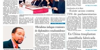 Portadas de periódicos de Bolivia del viernes 20 de abril de 2018