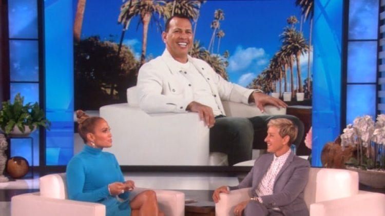 Jennifer Lopez cuenta a Ellen sobre su primera cita con Alex Rodriguez