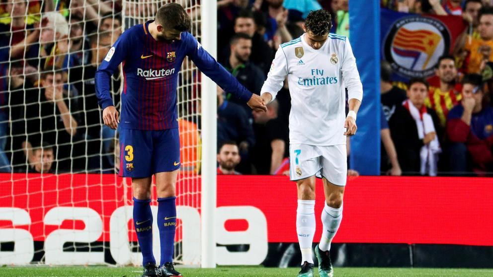 El noble gesto de Gerard Piqué con Cristiano tras el gol