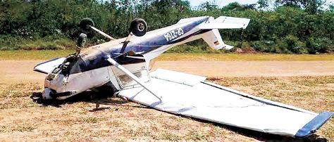 Siniestro. Un accidente en Beni, en el que una avioneta Cessna CP-2764 impactó en el suelo.