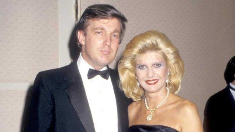 Donald Trump junto a Ivana, su primera esposa (Gentileza WIREIMAGE)