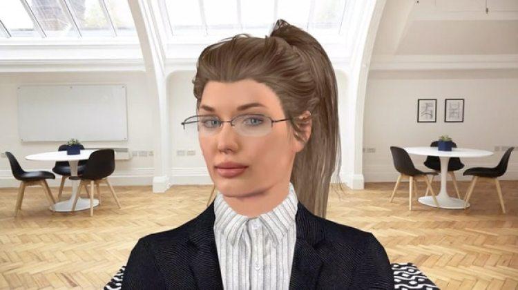 """Conocida como """"Robot Vera"""" la reclutadora que utiliza tecnología de inteligencia artificial para realizar entrevistas de trabajo (Cortesía: Robot Vera)"""