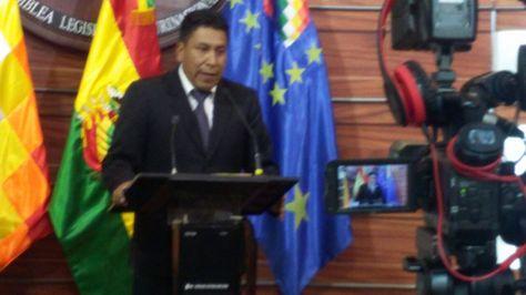 El senador del Movimiento Al Socialismo (MAS) Gonzalo Choquehuanca
