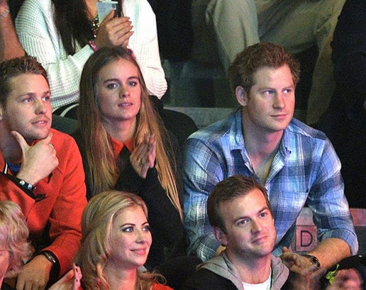 El Príncipe Harry con su ex novia Cressida Bonas