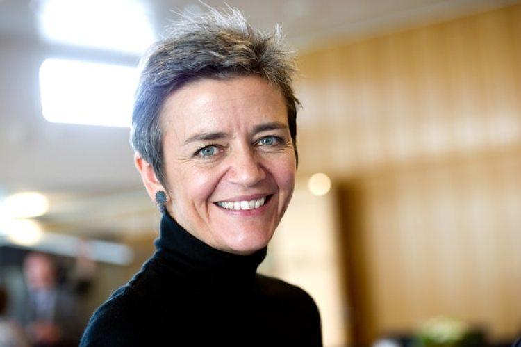 Margrethe Vestager, la Comisaria Europeade Competencia, ya ha causado temor, irritación y desembolsos millonarios alas grandes tecnológicas.(Johannes Jansson/norden.org)