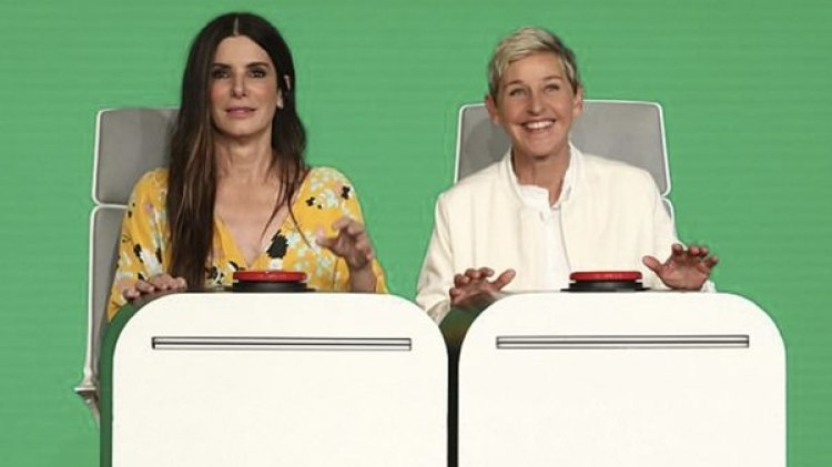 Sandra Bullock y Ellen DeGeneres, durante su participación en The Ellen Show