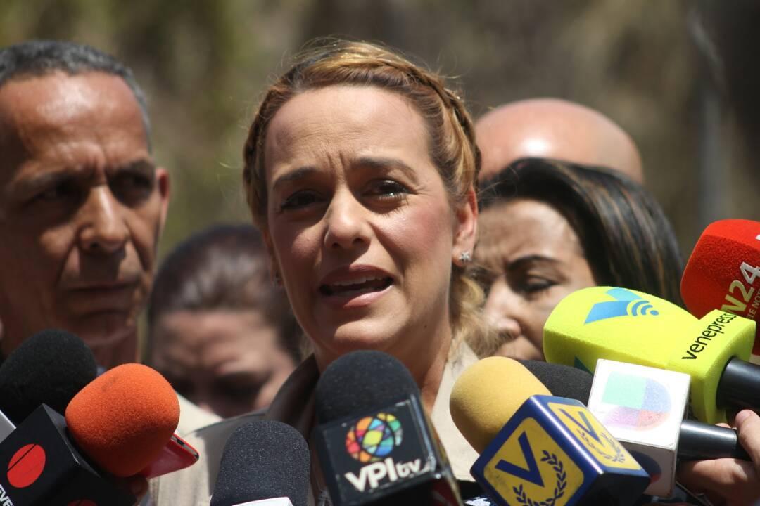 La activista de los derechos humanos, Lilian Tintori en El Helicoide / Juan Peraza - LaPatilla.com