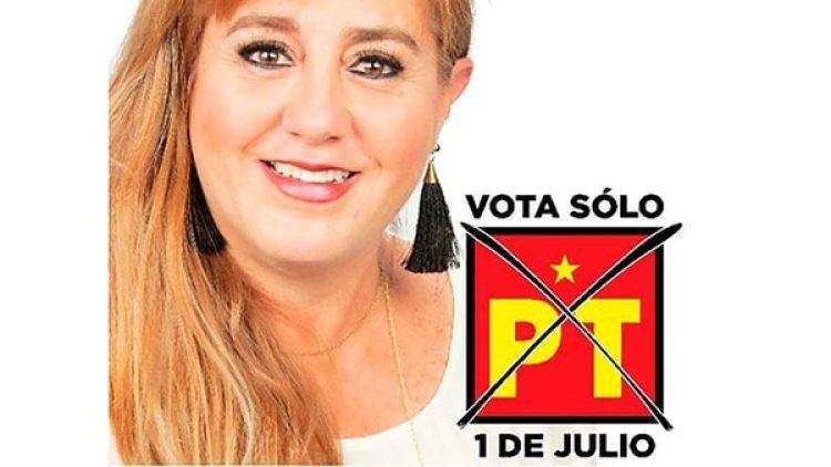 La candidata fue sacada de las oficinas de su partido