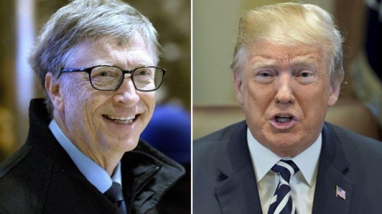 Bill Gates y Donald Trump