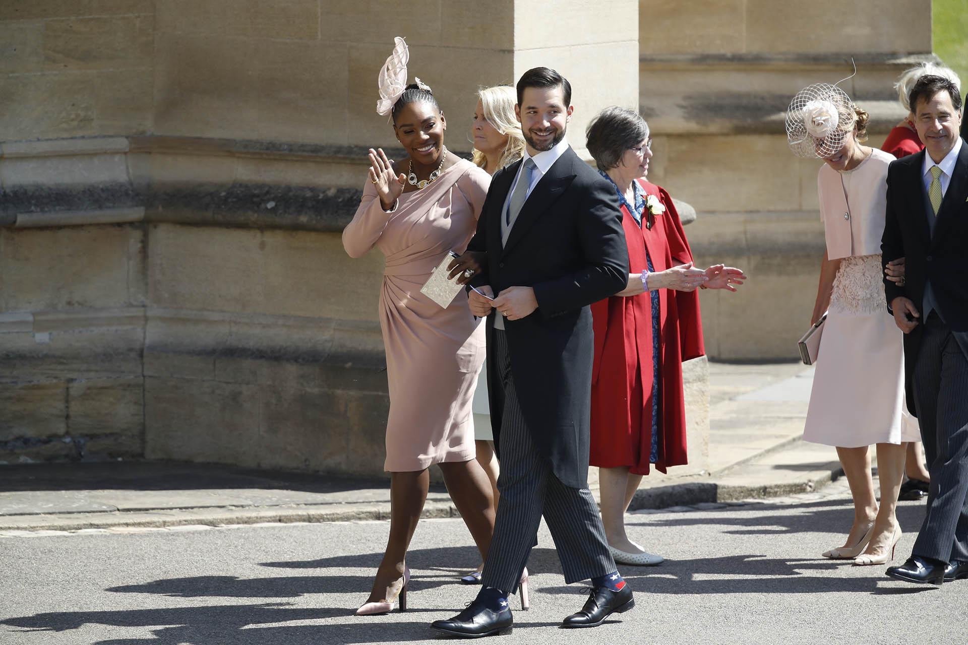 Serena Williams con su esposo Alexis Ohanian (AP)