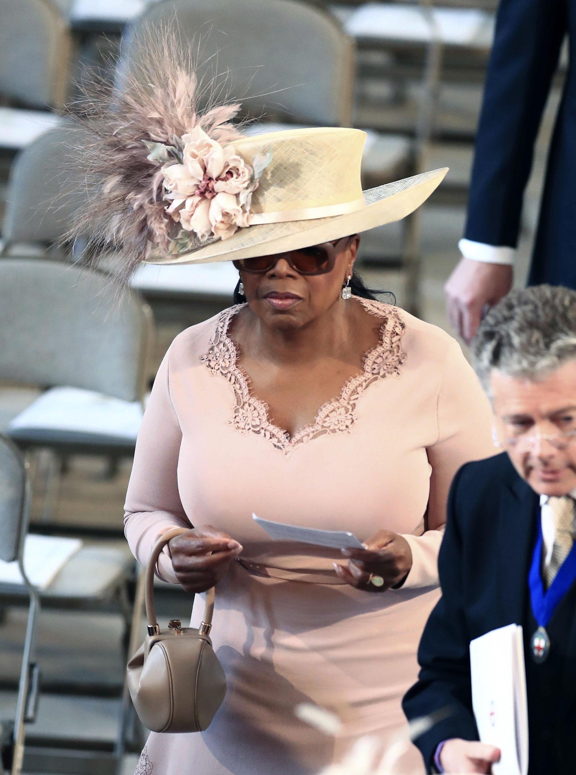 La presentadora estadounidense Oprah Winfrey, entre los invitados VIP al casamiento real